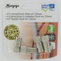 F-connectoren push-on 6,5mm Kabelkeur (4stuks)