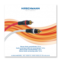 High-End Stereo RCA (Tulp) Kabel Hirschmann 1,8meter