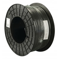 RG59 6.2mm Coax kabel 100meter op haspel zwart