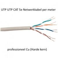 UTP CAT 5e Netwerkkabel professioneel Cu (Harde kern) per meter